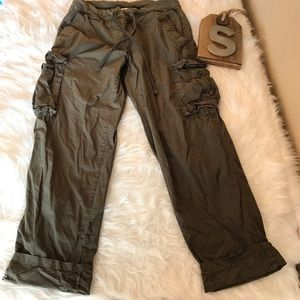 James Perse Sz 1 Army Green Cargo Pants
